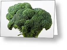 Broccoli Greeting Card by Robert Ullmann