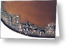 Bronze Tray Detail With Locust Greeting Card by Dawn Senior-Trask