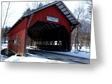 Brookdale Bridge Greeting Card by Dave Olsen