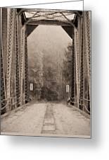 Brooklyn Bridge Greeting Card by JC Findley