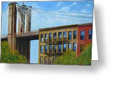 Brooklyn  Bridge Greeting Card by Leonardo Ruggieri