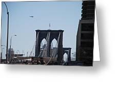 Brooklyn Bridge Greeting Card by Rob Hans