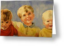 Brothers Greeting Card by Marilyn Jacobson