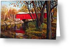 Brown County Bridge Greeting Card by Dorothy Riley