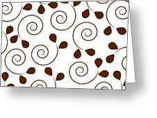 Brown Floral Greeting Card by Frank Tschakert