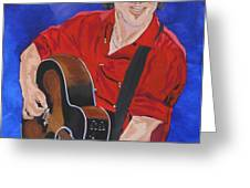 Bruce Springsteen-An American Boy Greeting Card by Bill Manson