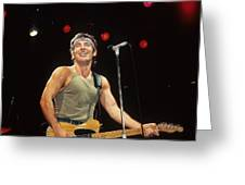Bruce Springsteen Greeting Card by Rich Fuscia