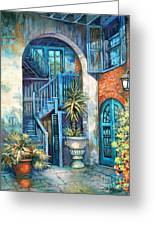 Brulatour Courtyard Greeting Card by Dianne Parks