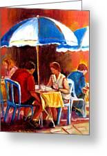 Brunch At The Ritz Greeting Card by Carole Spandau
