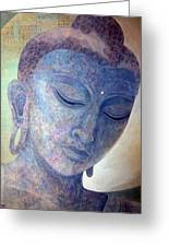 Buddha Alive In Stone Greeting Card by Jennifer Baird