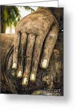 Buddha Hand Greeting Card by Adrian Evans