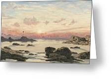 Bude Sands at Sunset Greeting Card by John Brett