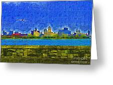 Buffalo Ny Skyline Greeting Card by Deborah MacQuarrie