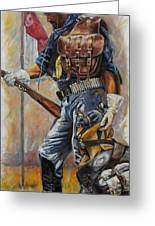 Buffalo Soldier Outfitted Greeting Card by Harvie Brown