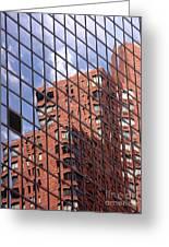Building Reflection Greeting Card by Tony Cordoza