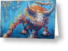 Bull Market X Greeting Card by John Henne