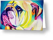 Bulldog - Bully Greeting Card by Alicia VanNoy Call