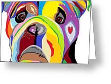 Bulldog Greeting Card by Eloise Schneider
