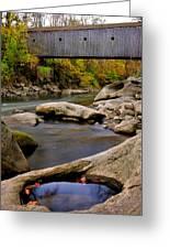 Bulls Bridge - Autumn Scene Greeting Card by Thomas Schoeller