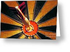 Bulls Eye Greeting Card by John Greim
