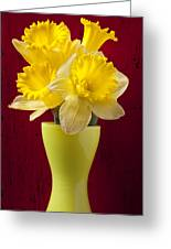Bunch Of Daffodils Greeting Card by Garry Gay
