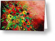 Bunch Of Flowers 0507 Greeting Card by Pol Ledent