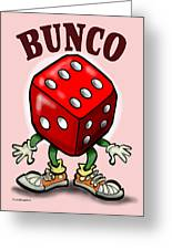 Bunco Greeting Card by Kevin Middleton