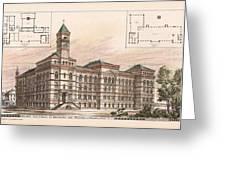 Bureau Of Engraving And Printing. Washington Dc. 1878 Greeting Card by Jas Hill