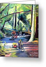 Burley Bike Parade On Shaver Grade Greeting Card by Colleen Proppe