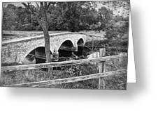 Burnside Bridge 2 Greeting Card by Mick Burkey