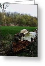 Burnt Out Boat Greeting Card by Anna Villarreal Garbis