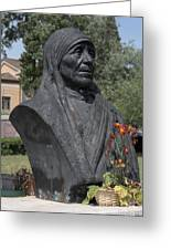Bust Of Mother Teresa Greeting Card by Fabrizio Ruggeri