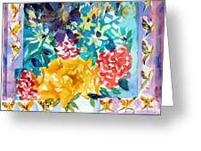 Butterfly Bouquet Greeting Card by Mindy Newman