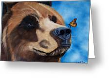 Butterfly Kisses Greeting Card by Debbie LaFrance