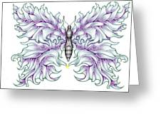 Butterfly Tattoo 2 Greeting Card by Karen Musick