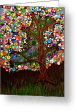 Button Tree 0007 Greeting Card by Monica Furlow