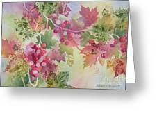 Cabernet Greeting Card by Deborah Ronglien