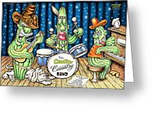 Cactus Jam Greeting Card by Cristophers Dream Artistry