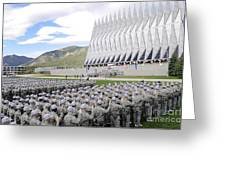 Cadets Recite The Oath Of Allegiance Greeting Card by Stocktrek Images