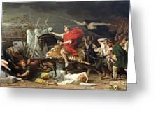 Caesar Greeting Card by Adolphe Yvon