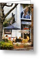 Cafe Greeting Card by Francesa Miller