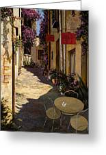 Cafe Piccolo Greeting Card by Guido Borelli