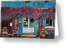 caffe del Aigare Greeting Card by Guido Borelli