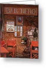caffe Nero Greeting Card by Guido Borelli
