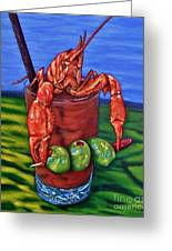 Cajun Cocktail Greeting Card by JoAnn Wheeler