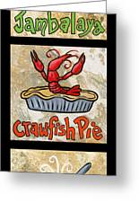 Cajun Trio Black Greeting Card by Elaine Hodges
