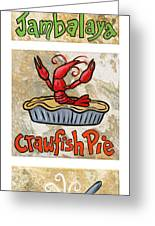 Cajun Trio White Greeting Card by Elaine Hodges