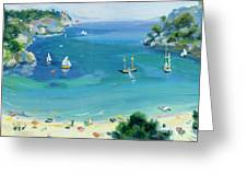 Cala Galdana - Minorca Greeting Card by Anne Durham