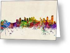 Calgary Skyline Greeting Card by Michael Tompsett