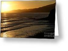 California Coast Sunset Greeting Card by Balanced Art
